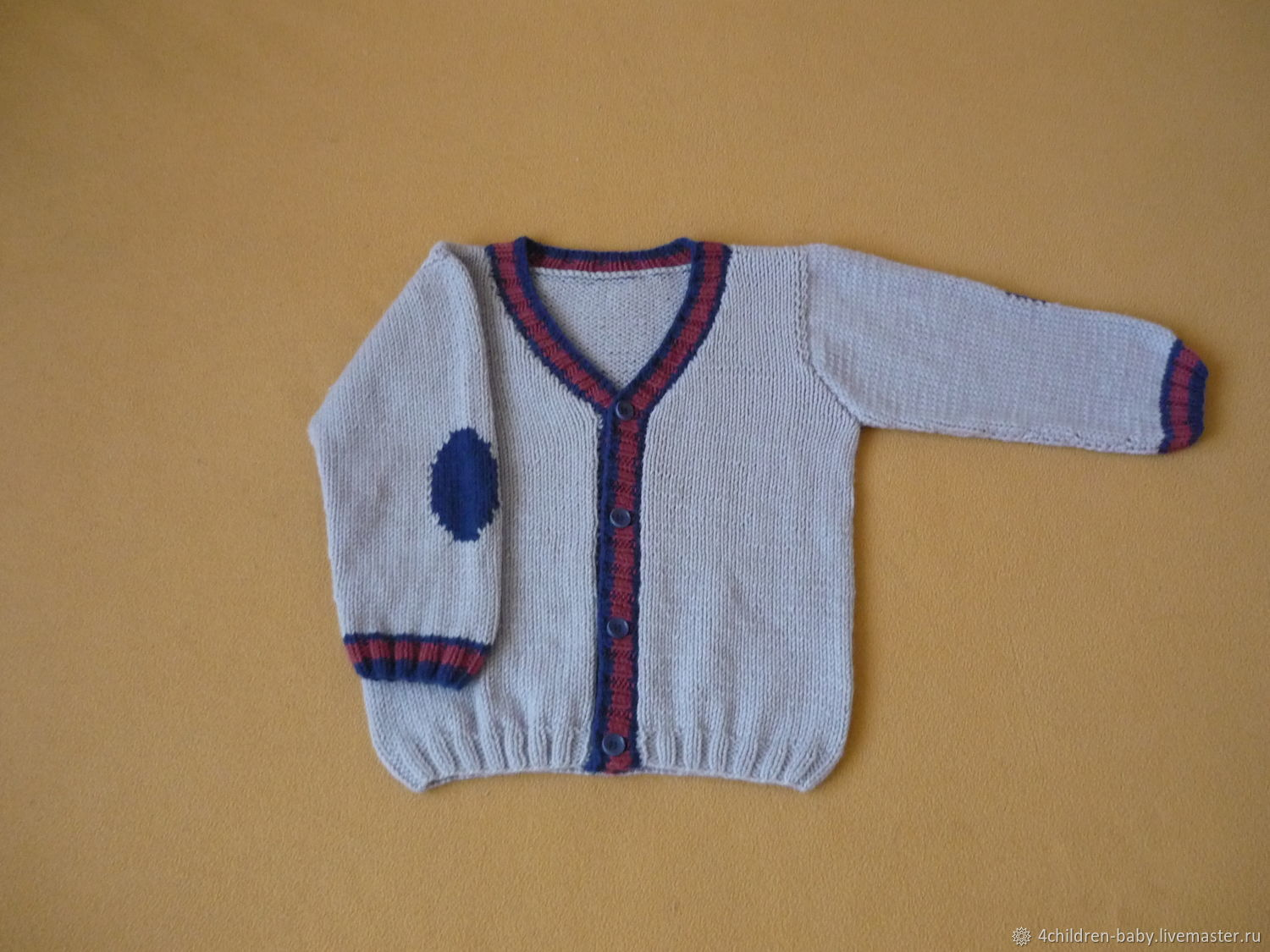 Knitted cardigan for a boy, Childrens cardigan, Moscow,  Фото №1