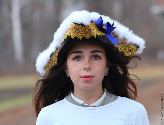 Детские карнавальные костюмы ручной работы. Ярмарка Мастеров - ручная работа. Купить Шляпа пиратского капитана. Handmade. Черный, треуголка
