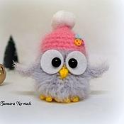 Мягкие игрушки ручной работы. Ярмарка Мастеров - ручная работа Маленькая совушка в шапке. Handmade.