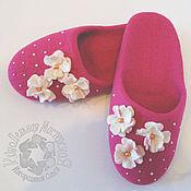 Обувь ручной работы handmade. Livemaster - original item Slippers pink. Handmade.