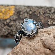 Украшения handmade. Livemaster - original item Silver Tenere ring with moonstone. Handmade.