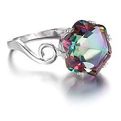 Украшения handmade. Livemaster - original item Ring ring with mystic Topaz buy. Handmade.