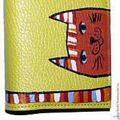 Канцелярские товары ручной работы. Ярмарка Мастеров - ручная работа Обложка Рыжий кот. Handmade.