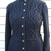 Одежда handmade. Livemaster - original item Cardigan women knitting Pansies. Handmade.