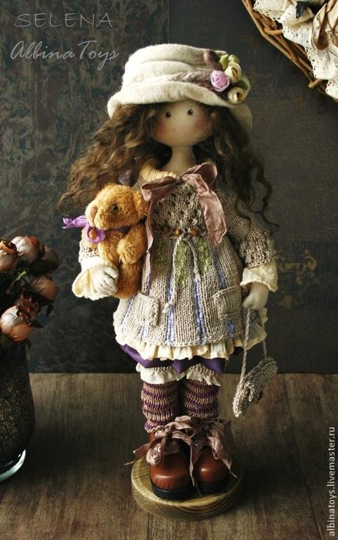 Коллекционные куклы ручной работы. Ярмарка Мастеров - ручная работа. Купить Текстильная кукла Селена. Бохо стиль. По мотивам.. Handmade.