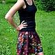 Юбки ручной работы. Заказать Эксклюзив - Две юбки в одной (2 в 1) из итальянской вискозы. Kamenelka Atelier. Ярмарка Мастеров.