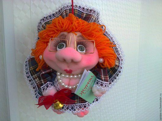 Приколы ручной работы. Ярмарка Мастеров - ручная работа. Купить кукла-попик Учительница. Handmade. Учителю, подарок на 8 марта
