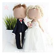 Куклы и игрушки ручной работы. Ярмарка Мастеров - ручная работа Портретные куклы. Молодожены. Подарок жениху и невесте. Handmade.