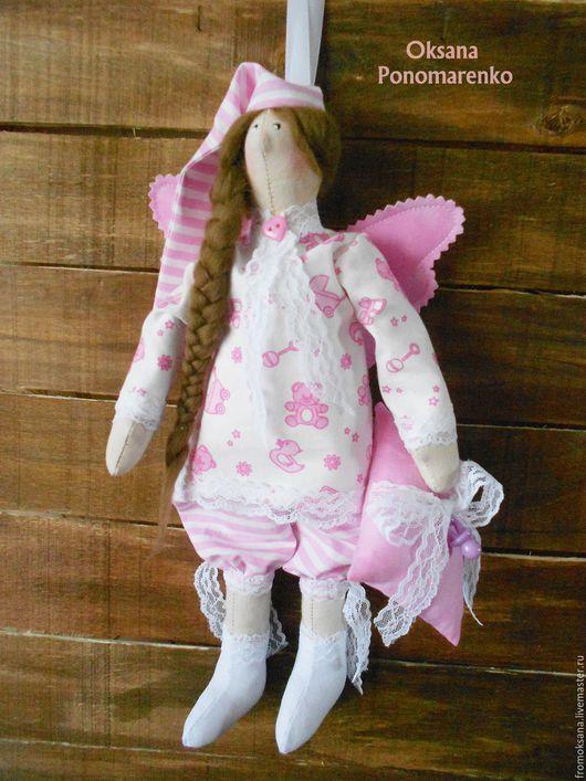Куклы Тильды ручной работы. Ярмарка Мастеров - ручная работа. Купить Ангел добрых снов. Handmade. Бледно-розовый, для детей