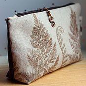 Сумки и аксессуары handmade. Livemaster - original item Cosmetic Bag Fern. Handmade.