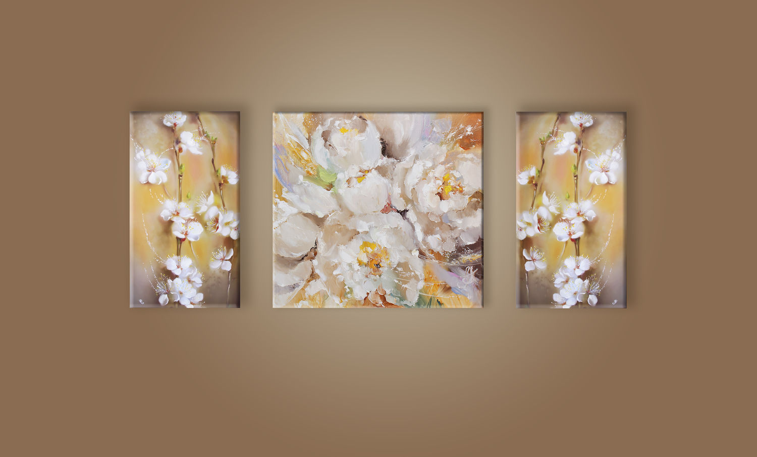 Triptych Tenderness of flowering, Pictures, Moscow,  Фото №1