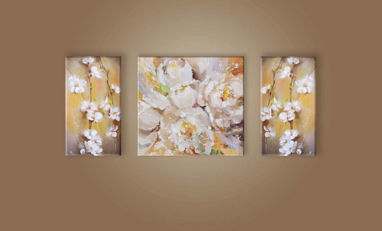 Триптих Нежность цветения, Картины, Москва,  Фото №1