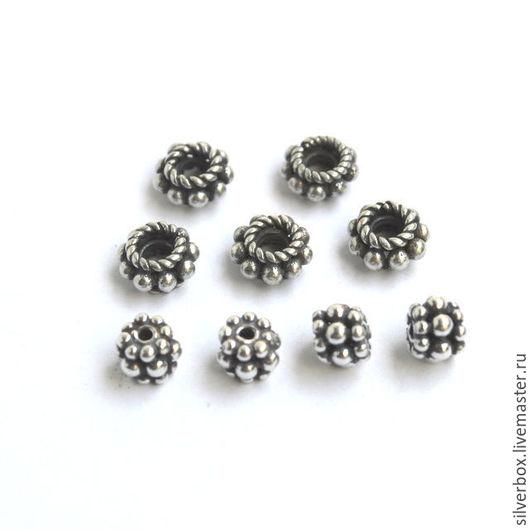 Спейсеры Бали Серебро 925 пробы Для украшений Нина(SilverBox) Ярмарка Мастеров