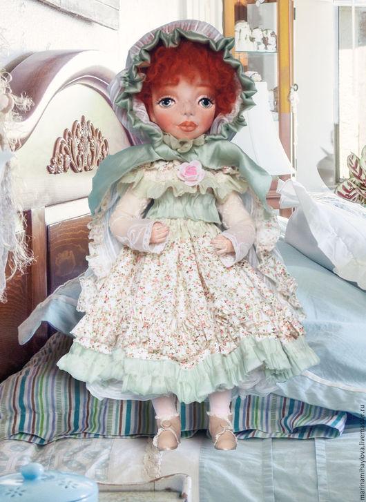 Коллекционные куклы ручной работы. Ярмарка Мастеров - ручная работа. Купить Пульхерия текстильная кукла.. Handmade. Морская волна