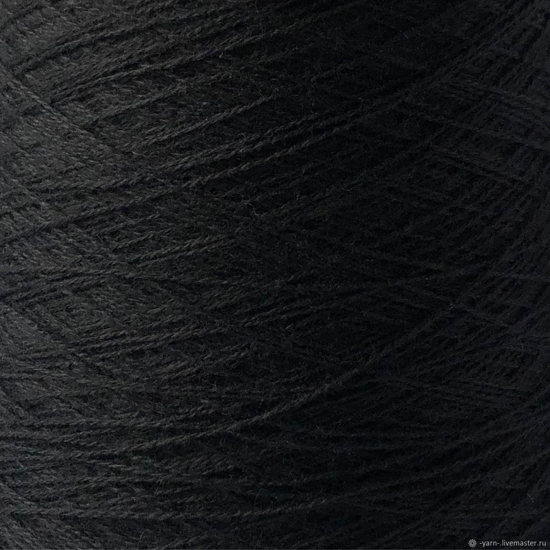 Зарезервировано Пряжа Кашемир 2/28 черный, Пряжа, Санкт-Петербург,  Фото №1