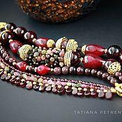 Украшения handmade. Livemaster - original item Ruby, garnet, tourmaline Bracelet