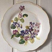Для дома и интерьера ручной работы. Ярмарка Мастеров - ручная работа Настенная тарелка Виола. Handmade.