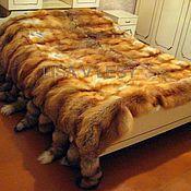 Пледы ручной работы. Ярмарка Мастеров - ручная работа Шикарное меховое покрывало из лисы. Handmade.