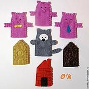 """Куклы и игрушки ручной работы. Ярмарка Мастеров - ручная работа Пальчиковый театр """" 3 Поросёнка"""".. Handmade."""