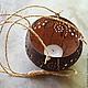 Подсвечники ручной работы. Подвесной кокосовый подсвечник «Coconut Sky». Thai Holy Cow. Ярмарка Мастеров. Подсвечник из кокоса
