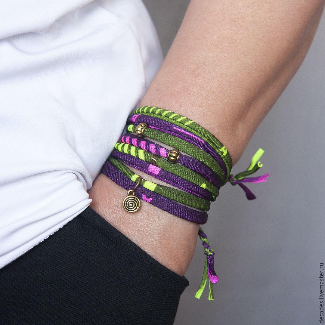 Lambada textile bracelet, Textile bracelet, Moscow,  Фото №1