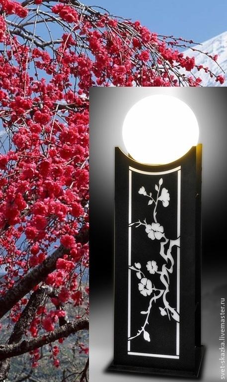 """Освещение ручной работы. Ярмарка Мастеров - ручная работа. Купить Фонарь """"Японская вишня"""". Handmade. Уличный фонарь, садовый фонарь"""