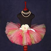 """Одежда ручной работы. Ярмарка Мастеров - ручная работа """"Цветущий сад"""" пышная юбка-пачка из фатина. Handmade."""