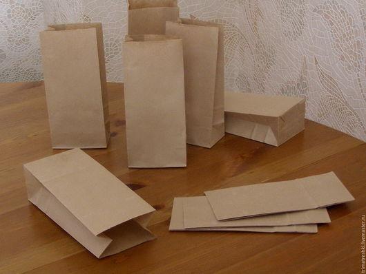 Упаковка ручной работы. Ярмарка Мастеров - ручная работа. Купить Крафт- пакет, 17х8х5 см, Распродажа -25%. Handmade. Коричневый