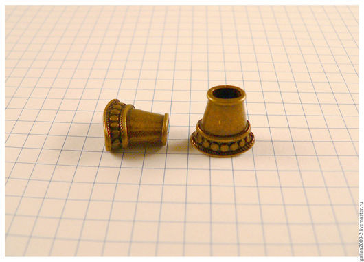 Для украшений ручной работы. Ярмарка Мастеров - ручная работа. Купить Концевик для шнура - плоский, 15 мм., бронзовый.. Handmade.