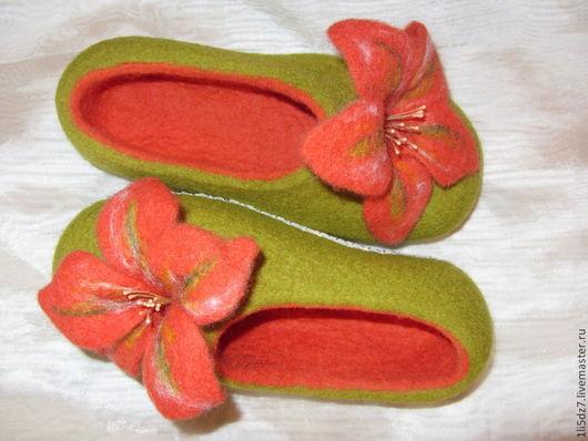 Обувь ручной работы. Ярмарка Мастеров - ручная работа. Купить Валяные тапочки. Handmade. Валяные тапочки, тапочки из шерсти, подарок