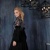 Одежда handmade. Livemaster - original item Evening dress black, long dress,