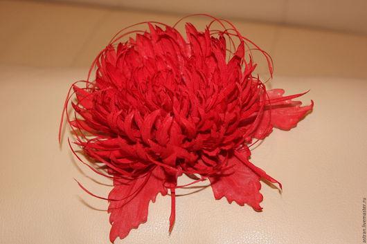 Цветы ручной работы. Ярмарка Мастеров - ручная работа. Купить Хризантема из ткани. Handmade. Брошь, новогодний подарок, повязка для девочки