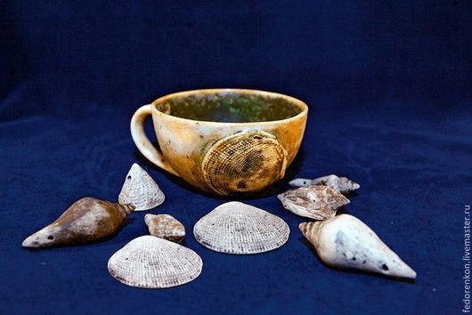 Кружки и чашки ручной работы. Ярмарка Мастеров - ручная работа. Купить Керамическая чашка Морская. Handmade. Керамика ручной работы