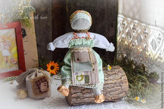 """Народные куклы ручной работы. Ярмарка Мастеров - ручная работа. Купить Кукла для сна """"Луговые травы и ромашка"""".. Handmade. Зеленый"""