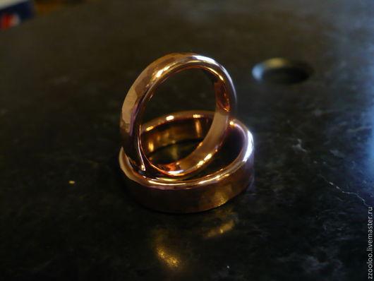 Кольца ручной работы. Ярмарка Мастеров - ручная работа. Купить Медные обручальные кольца. Handmade. Обручальные кольца, патина