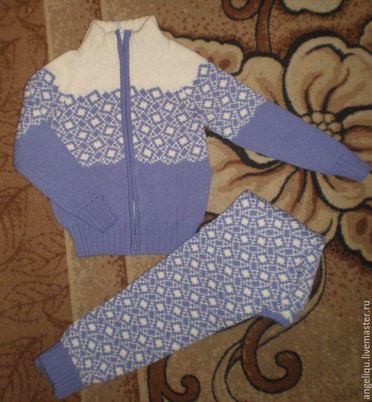 Одежда для девочек, ручной работы. Ярмарка Мастеров - ручная работа. Купить Детский костюм жаккардовый. Handmade. Сиреневый, лосины