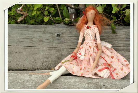 Куклы Тильды ручной работы. Ярмарка Мастеров - ручная работа. Купить Тильда барышня. Handmade. Тильда, ленты атласные