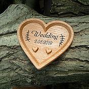 Свадебный салон handmade. Livemaster - original item Plate under wedding rings