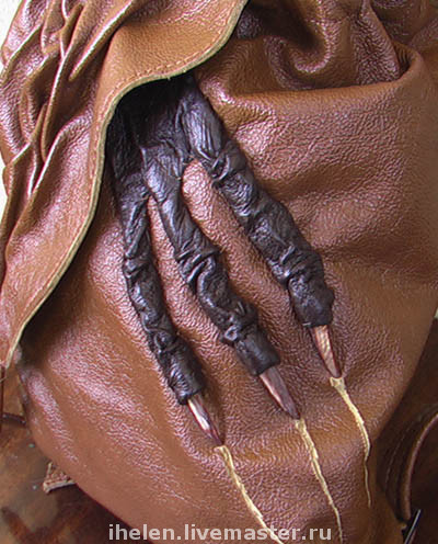 Backpacks handmade. Livemaster - handmade. Buy Backpack with a Mysterious Stranger.Fantasy, natural leather