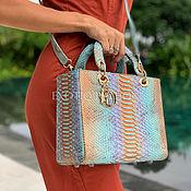 Сумки и аксессуары handmade. Livemaster - original item Women`s bag made of Python skin. Handmade.
