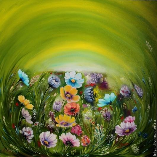 Картины цветов ручной работы. Ярмарка Мастеров - ручная работа. Купить Картина маслом  Полевые цветы. Handmade. Картина