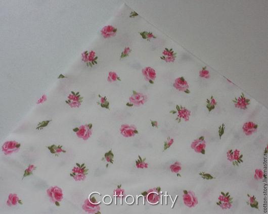 Шитье ручной работы. Ярмарка Мастеров - ручная работа. Купить Хлопок Розовый букет мелкие цветы. Handmade. Ткань для творчества