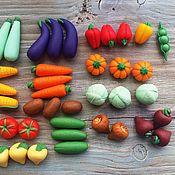 Куклы и игрушки ручной работы. Ярмарка Мастеров - ручная работа Набор овощей из полимерной глины 40 штук. Handmade.