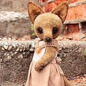 Куклы и игрушки ручной работы. Ярмарка Мастеров - ручная работа Лисица в платье. Handmade.