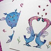 Открытки handmade. Livemaster - original item Cards: Hellish Milota. Handmade.