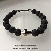Украшения handmade. Livemaster - original item Bracelet unisex with crystal cross Swarovski. Handmade.