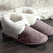 Обувь ручной работы handmade. Livemaster - original item Chuni-Slippers made of sheepskin (brown). Handmade.