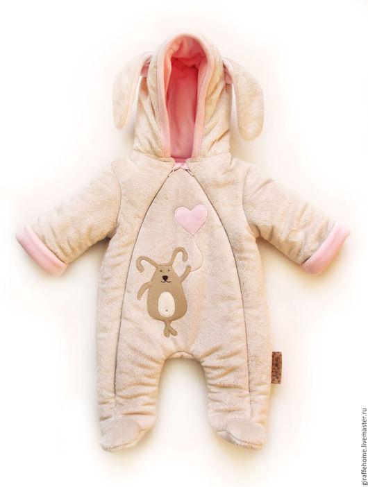 """Одежда ручной работы. Ярмарка Мастеров - ручная работа. Купить Комбинезон для малыша """"Зайка"""". Handmade. Бежевый, комбинезон, комбинезон детский"""