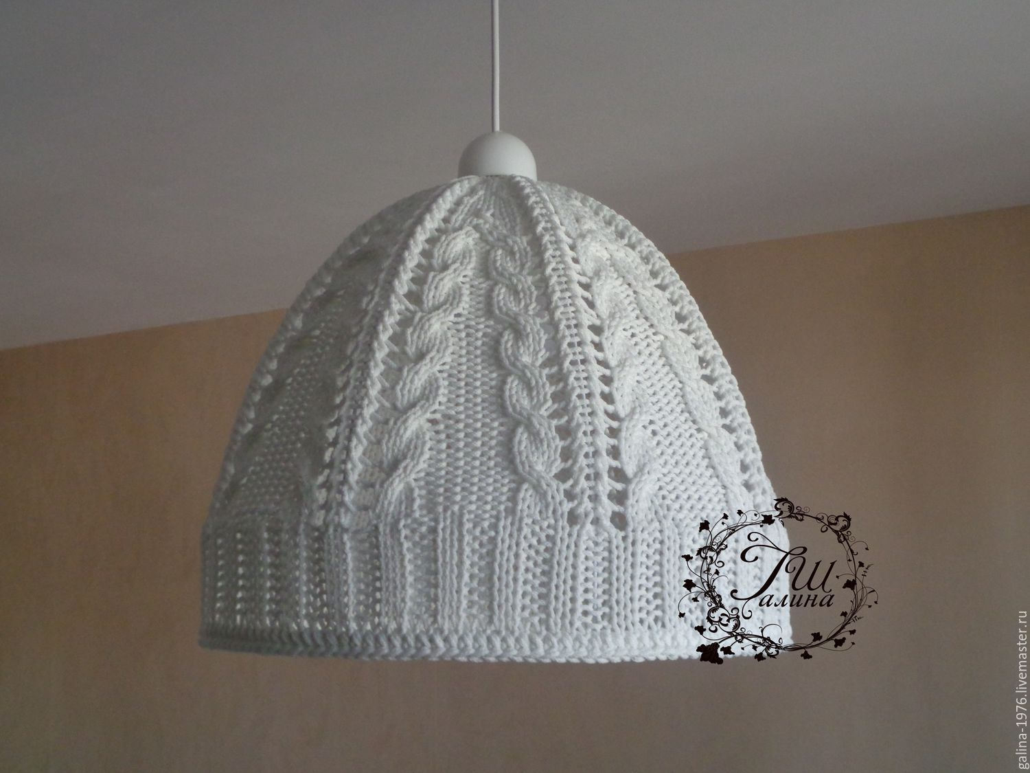 Lamps handmade. Livemaster - handmade. Buy Knitted shade 'Cool'.Lamp, home, braids