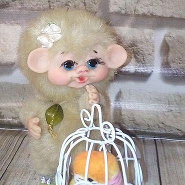 Куклы и игрушки ручной работы. Ярмарка Мастеров - ручная работа Тедди Зверята: обезьянка Чанга. Handmade.